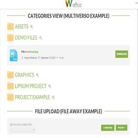 Gestión de archivos intranet