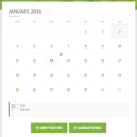 Calendario y gestión de eventos