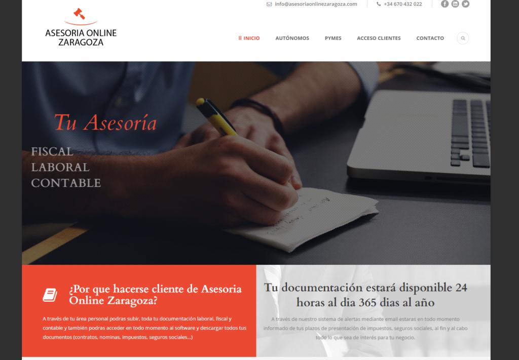 Diseño web para asesoría y gestoría online