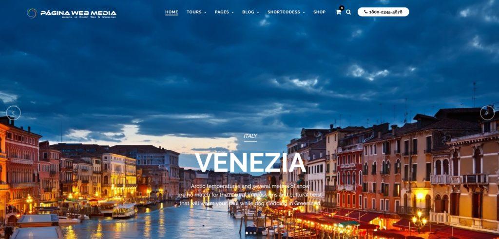 Diseño de pagina web para agencias de viajes