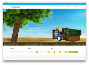 Webpage design for travel agencies