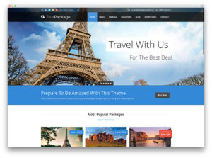 Webpage design for travel themes