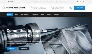 Diseño página web sobre ingeniería
