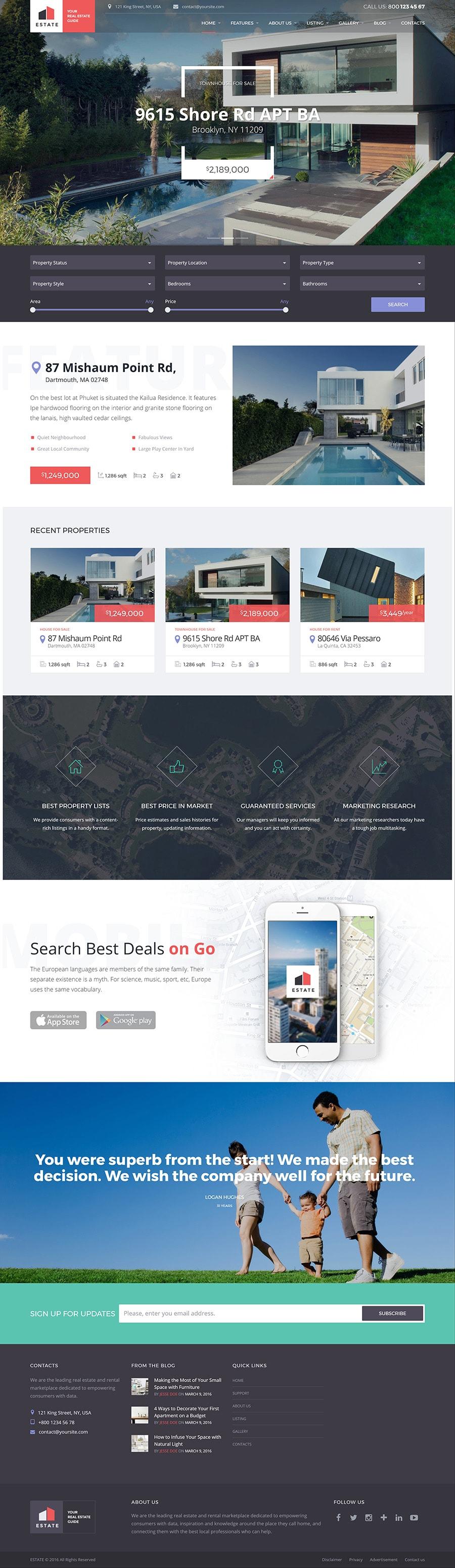 Diseño página web para inmobiliaria