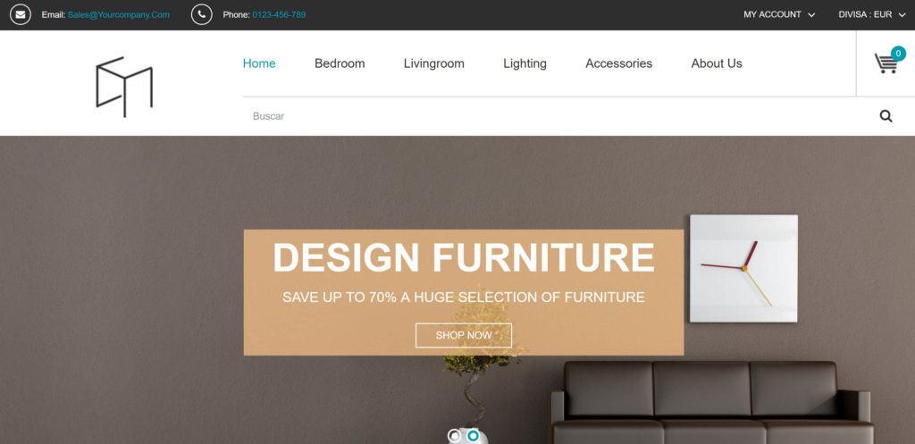 Diseño para unaTienda online de muebles y decoración