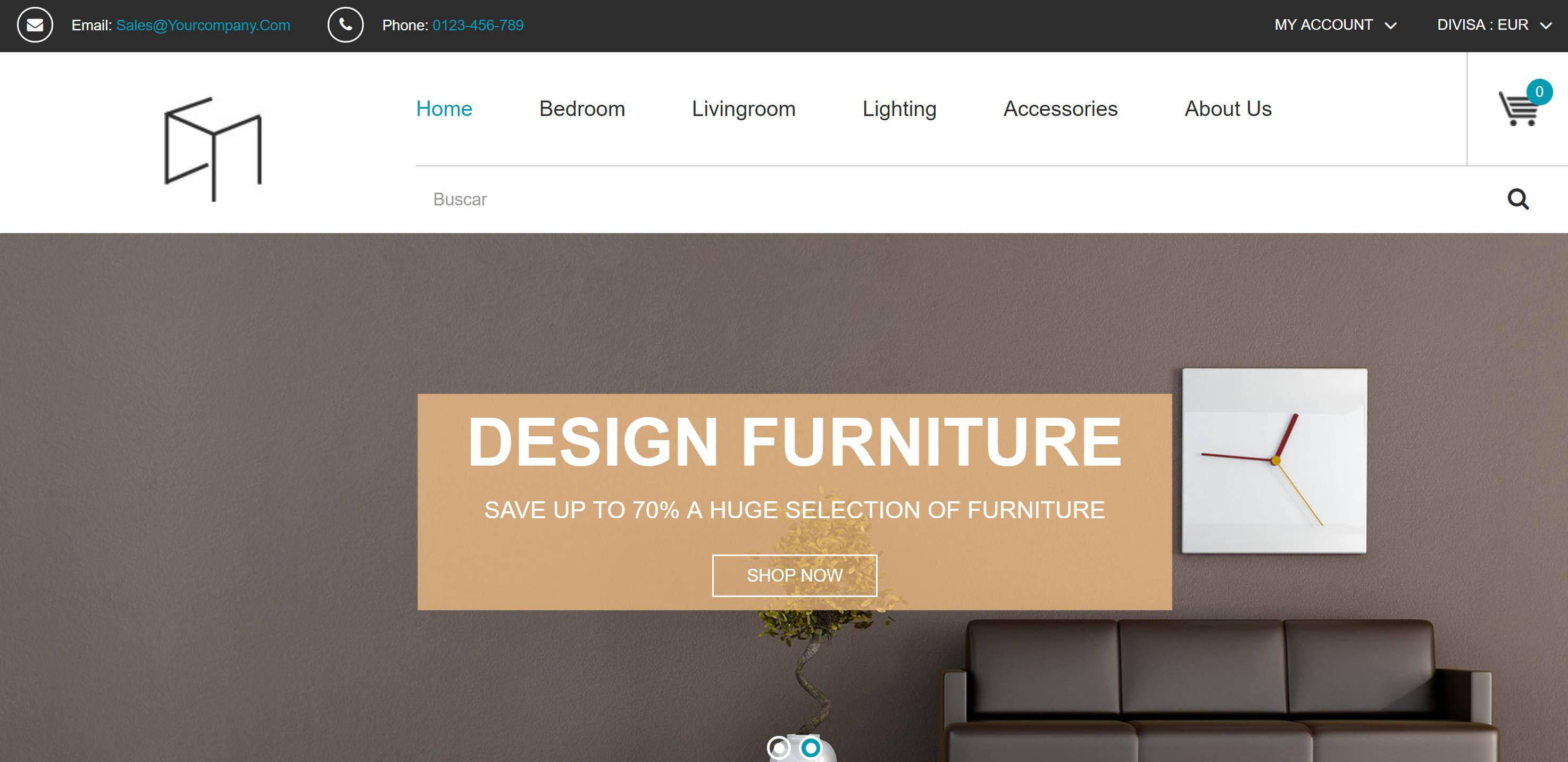 Dise o para una tienda online de muebles y decoraci n for Portico muebles catalogo online