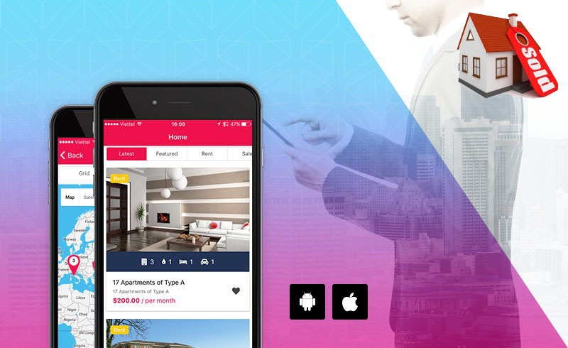Mobile application design for real estate