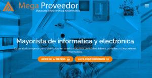 Diseño web para empresa mayorista de informática