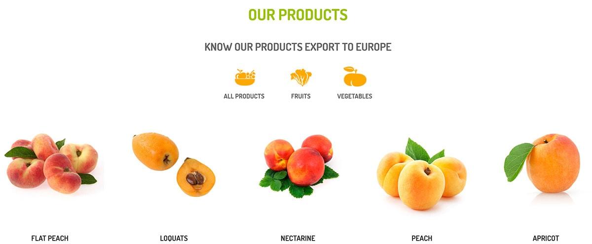 commerce électronique des fruits