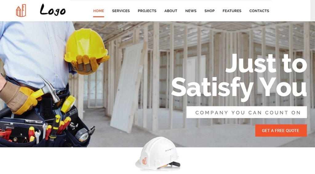 Diseño web para empresa de Construcción