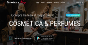 E-commerce para tienda de cosmética y perfumes