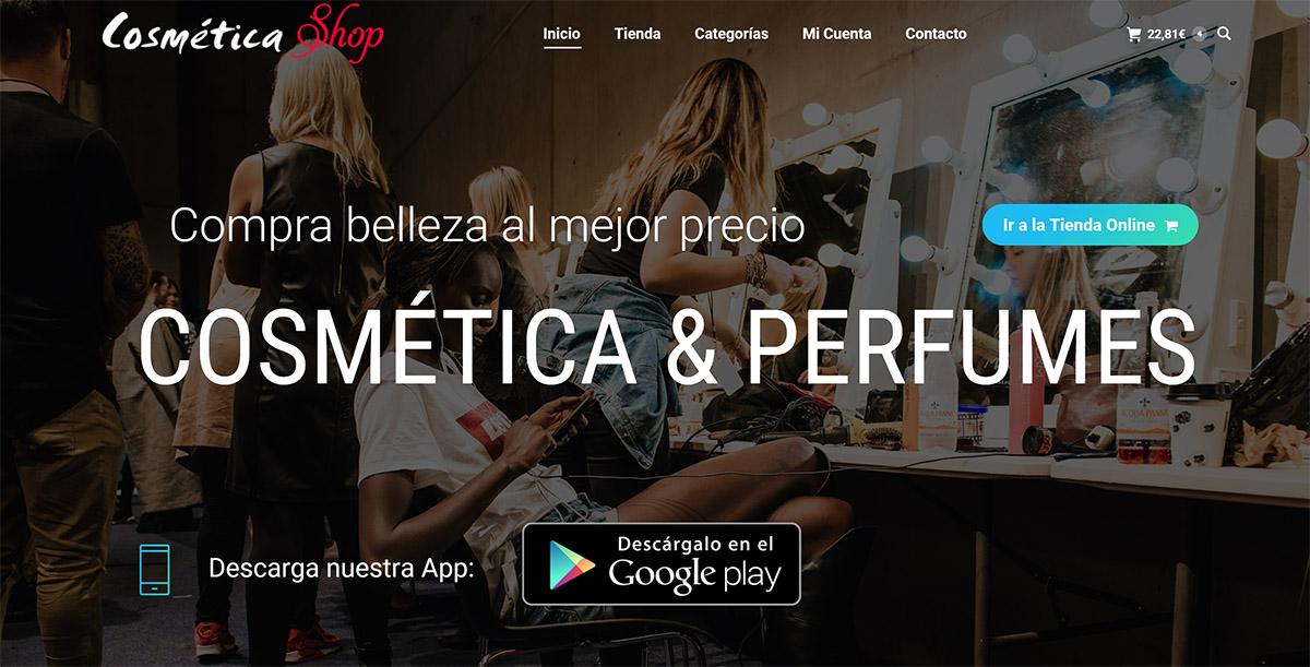 diseño web cosmética y perfumes