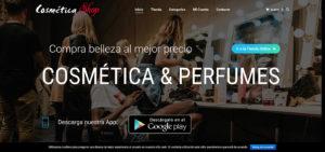 e-commerce de cosmética y perfumes