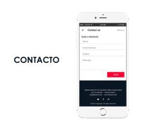 formulario de contacto app