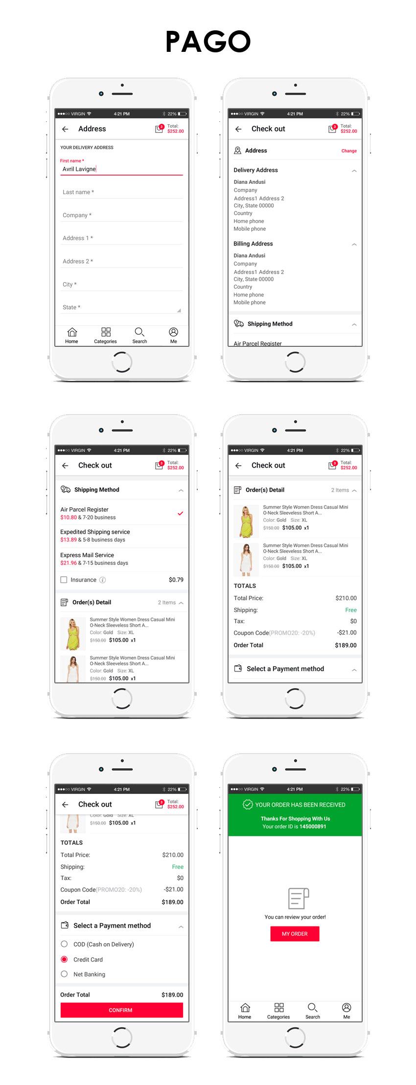 sistema de pago en una app