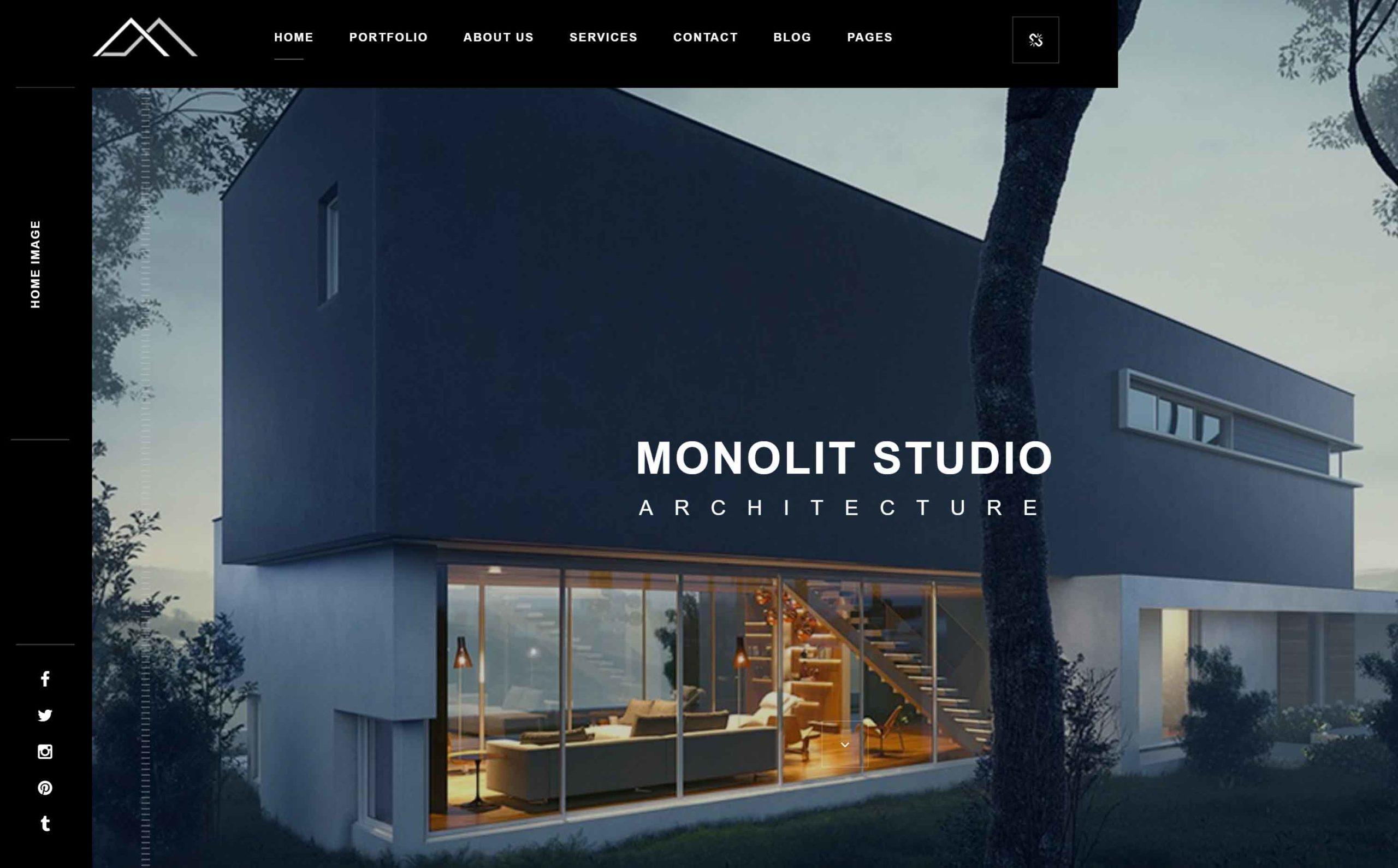 Web design for architecture studio