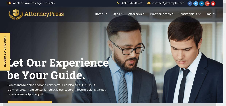 página web para abogados