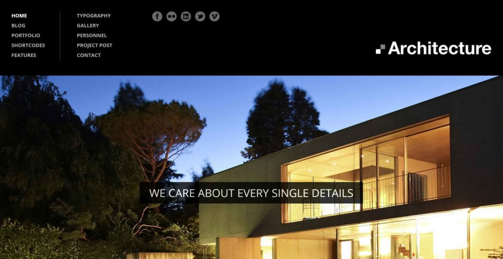 theme wordpress design for architecture