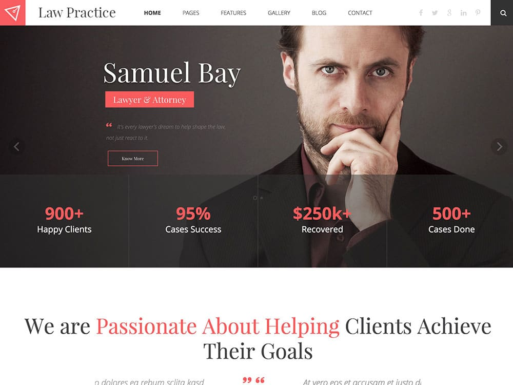 web design theme for lawyers