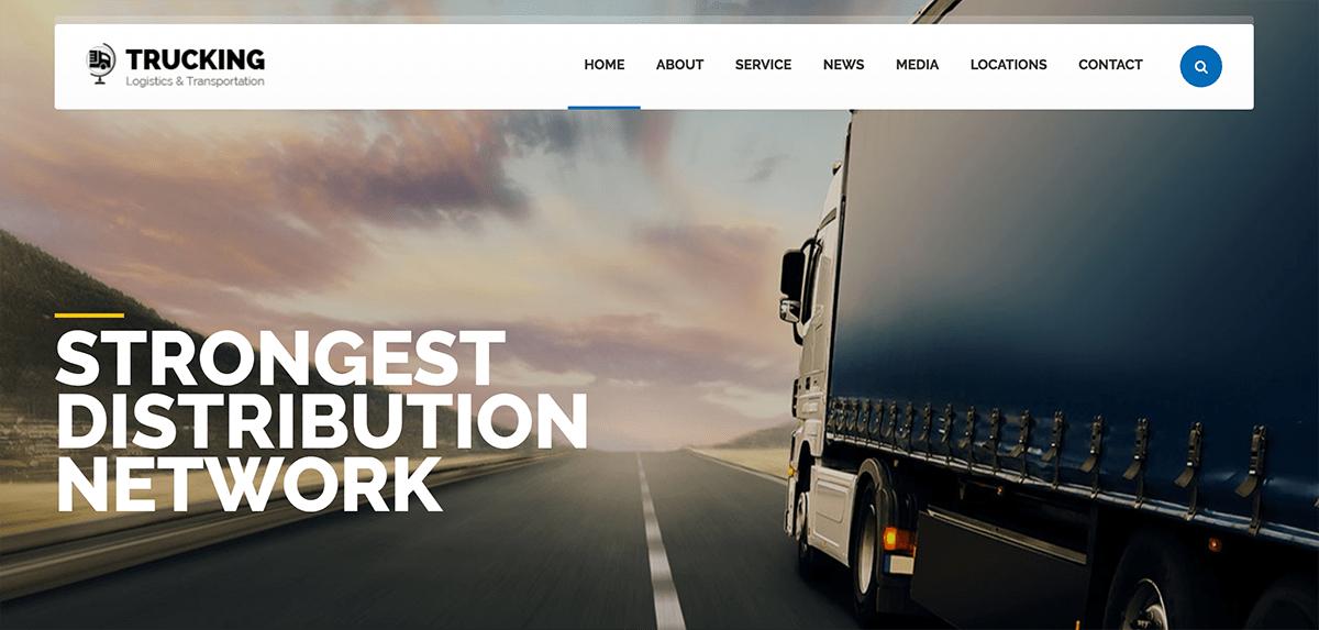 Diseño web para empresa de transporte y logística