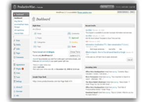 control panel for websites