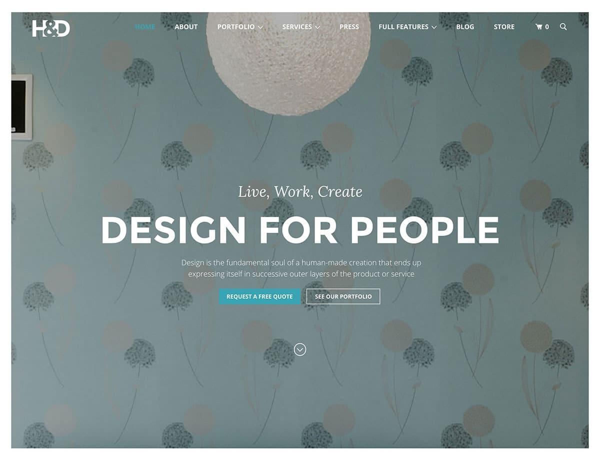 example interior design page