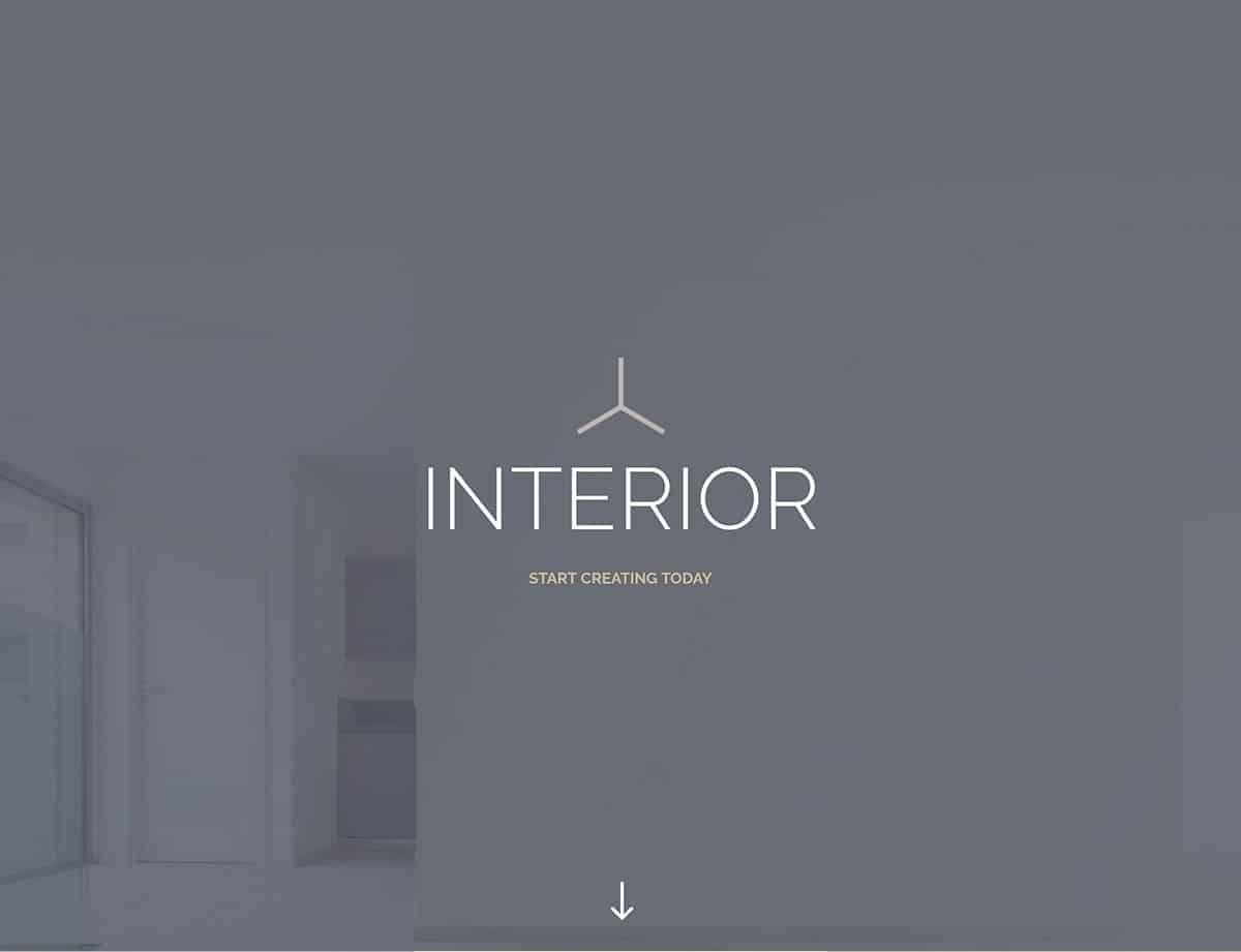 landing page interior design