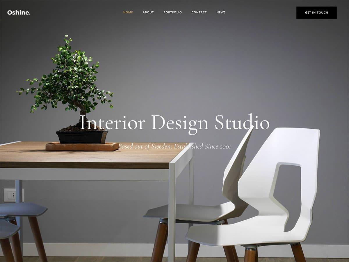 website for design and interior design