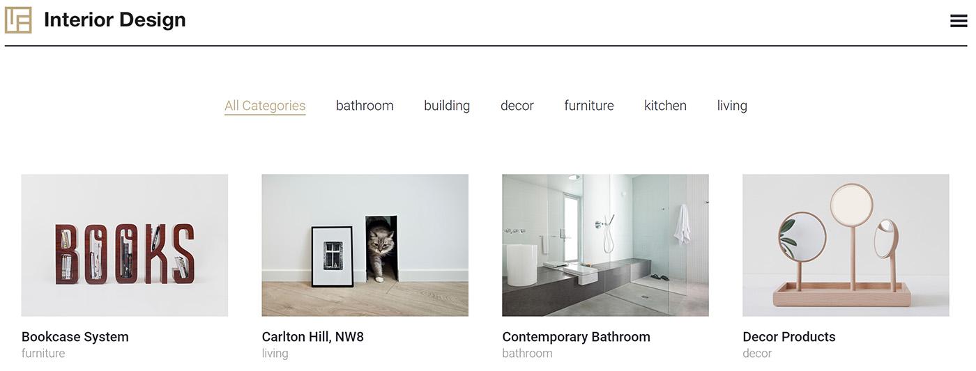 interior design web portfolio