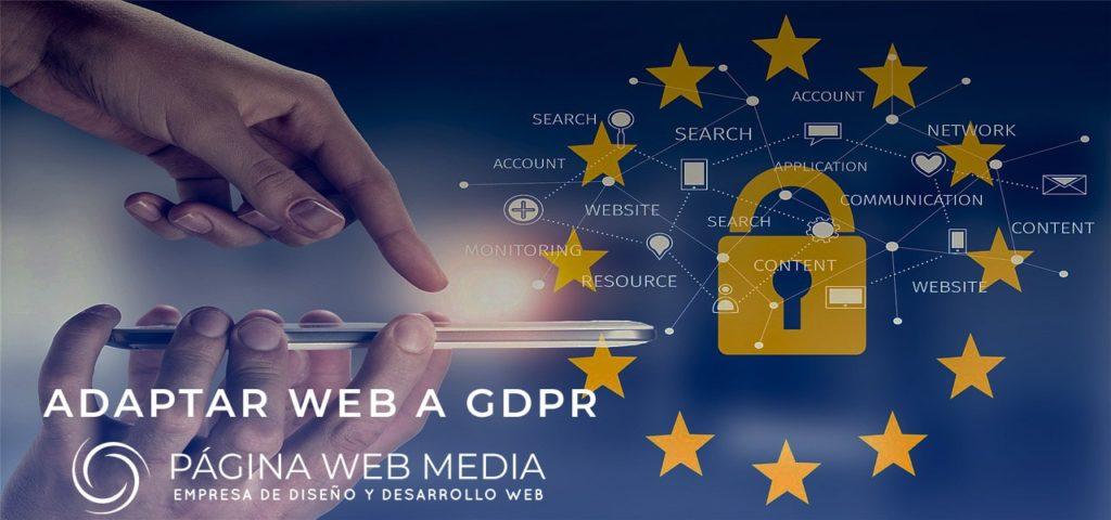 Páginas web y protección de datos GDPR