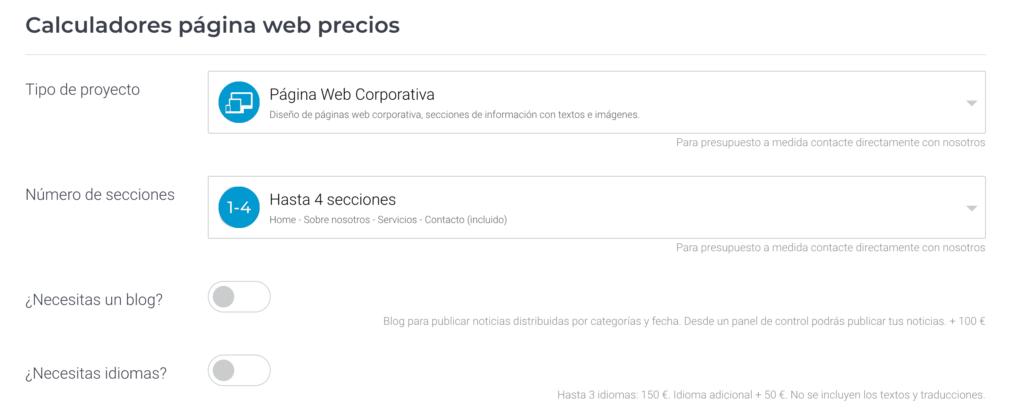 Website-Preisrechner