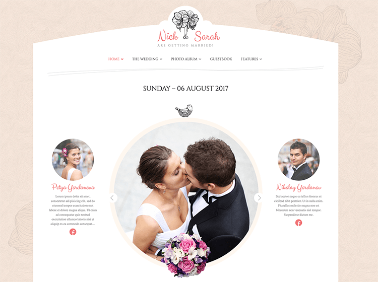 Web design for weddings and events