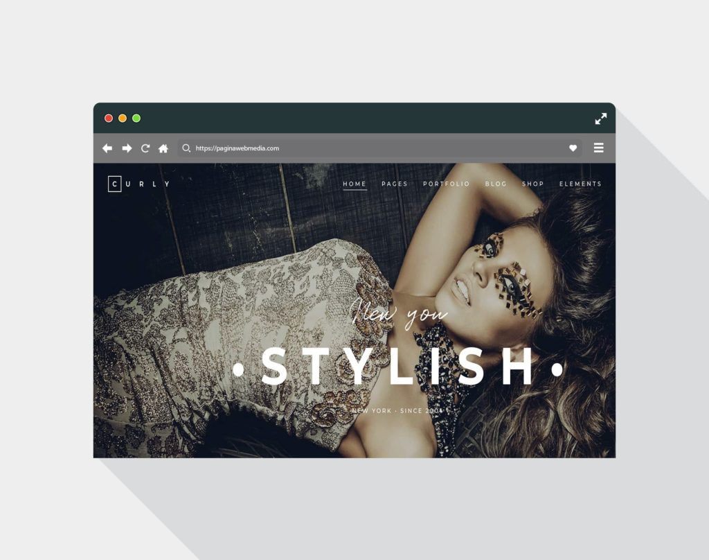 Web design for a hairdresser
