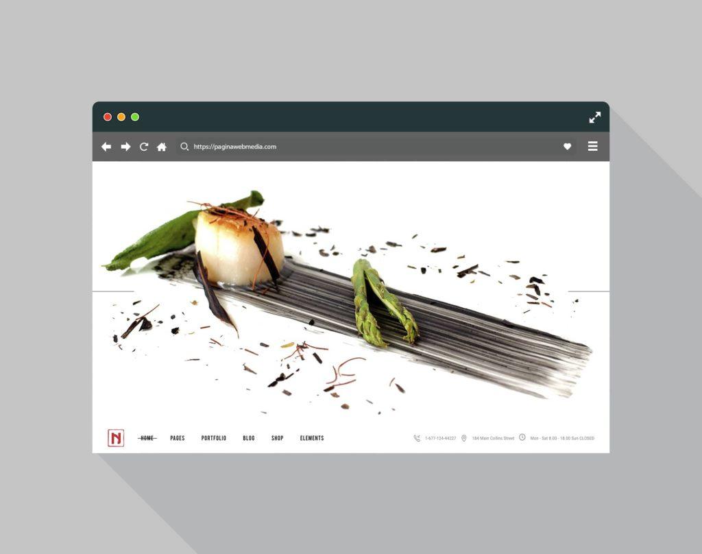 Diseño página web para un restaurante