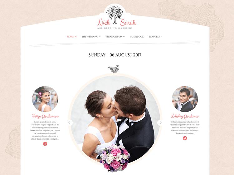 Diseño web para bodas y eventos