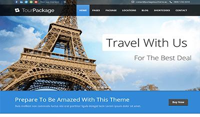 Conception de pages Web de voyages