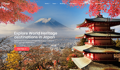 Travel agency web design