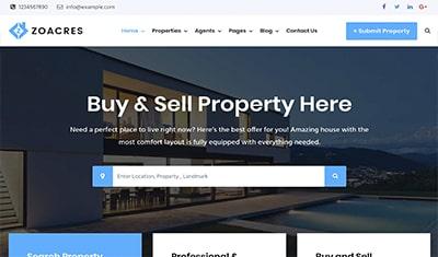 Conception de sites web pour une agence immobilière