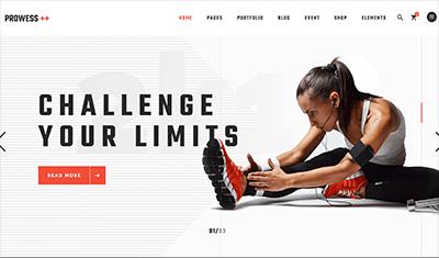 Diseños páginas web deporte