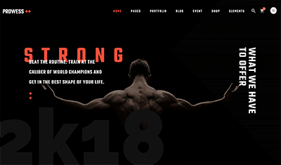 Web designs for gyms