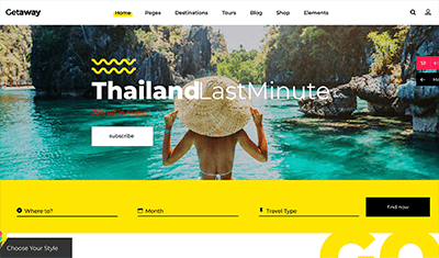 Diseño web viajes