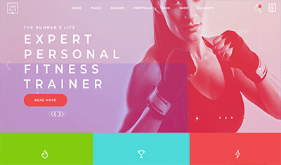 Examples personal trainer website