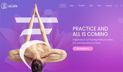 Examples web pages pilates