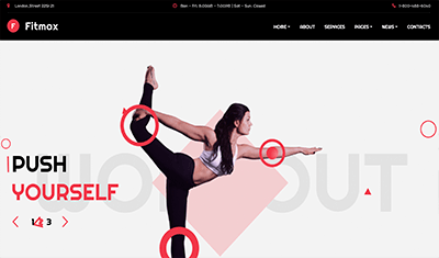 Examples web pages yoga