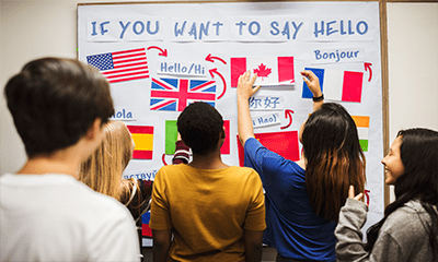 Ejemplos páginas web de academias de idiomas