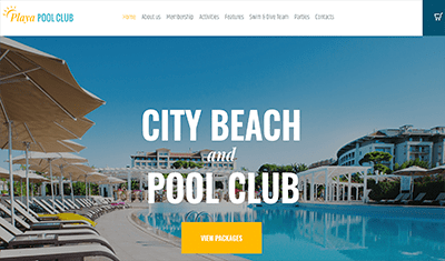 Swimming web examples