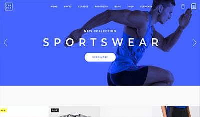 Ejemplos web tienda deporte