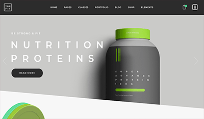 Web examples nutrition store