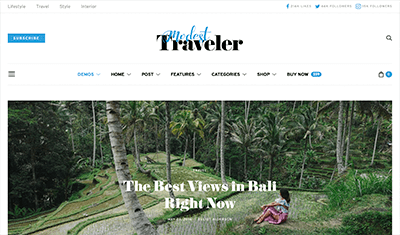 Sample websites travel blog