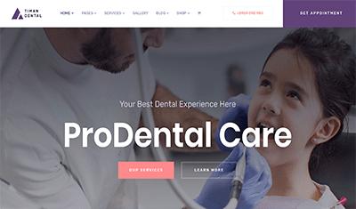 Sitio web clínica dental